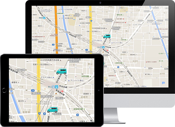 GPS機能(HUG GPS)画面